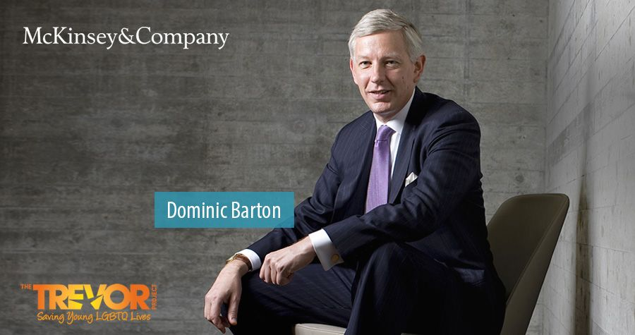 Dominic Barton awarded Trevor Project honor for LGTB efforts