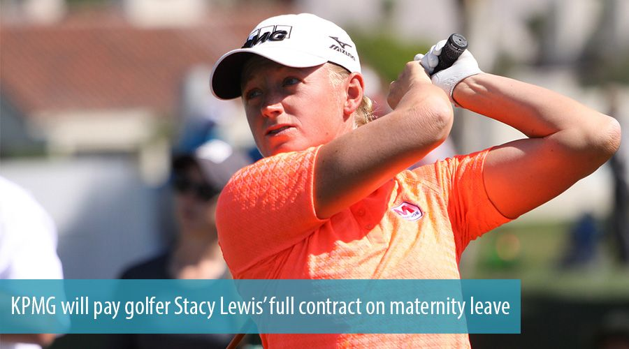 KPMG will pay golfer Stacy Lewis' full contract on maternity leave