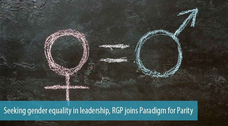 Seeking gender equality in leadership, RGP joins Paradigm for Parity