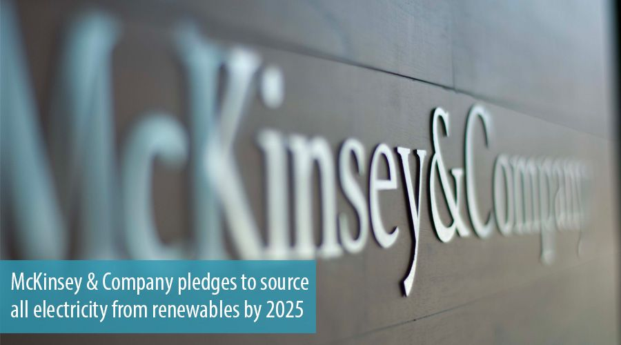 McKinsey & Company pledges to source all electricity from renewables by 2025