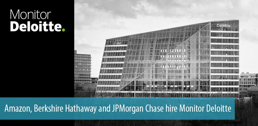 Amazon, Berkshire Hathaway and JPMorgan Chase hire Monitor Deloitte