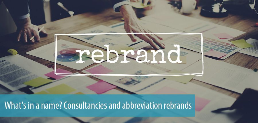 What's in a name? Consultancies and abbreviation rebrands