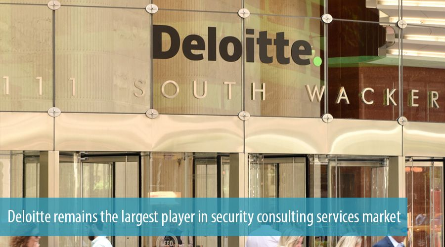 Deloitte remains the largest player in security consulting services market