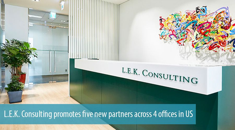 L.E.K. Consulting promotes five new partners across 4 offices in US