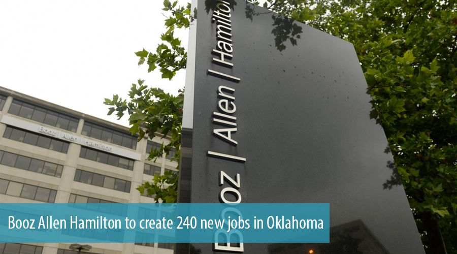 Booz Allen Hamilton to create 240 new jobs in Oklahoma