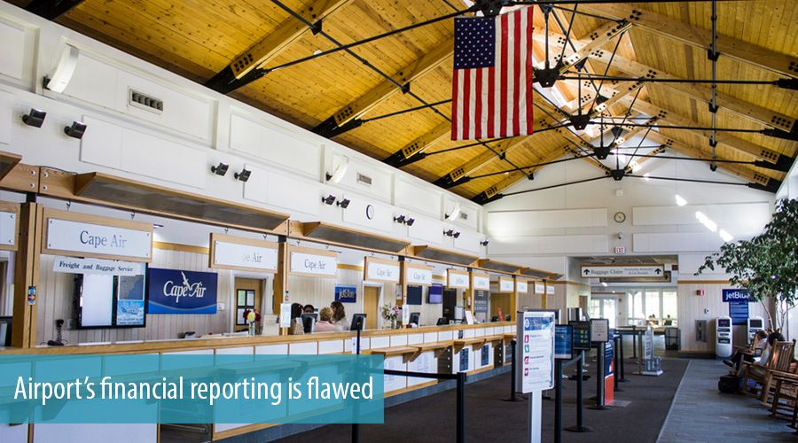 Airport's financial reporting is flawed