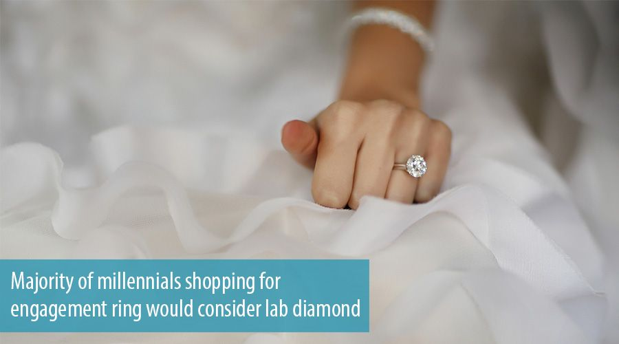 Majority of millennials shopping for engagement ring would consider lab diamond