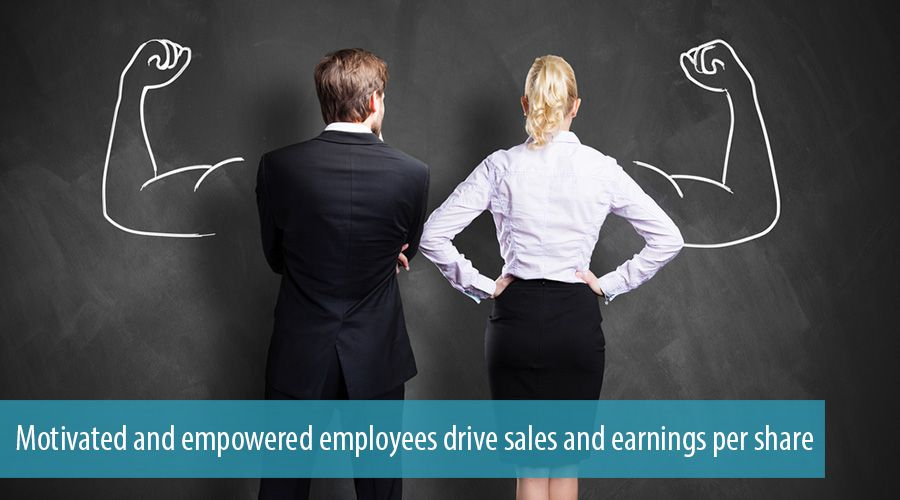 Motivated and empowered employees drive sales and earnings per share