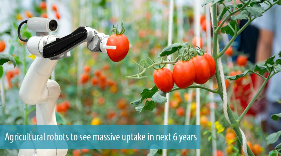 Agricultural robots to see massive uptake in next 6 years