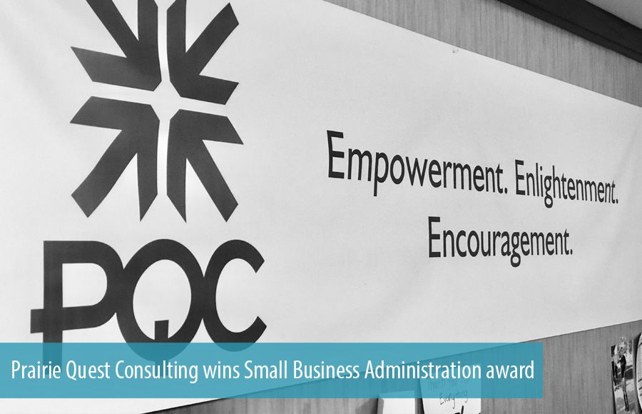 Prairie Quest Consulting wins Small Business Administration award