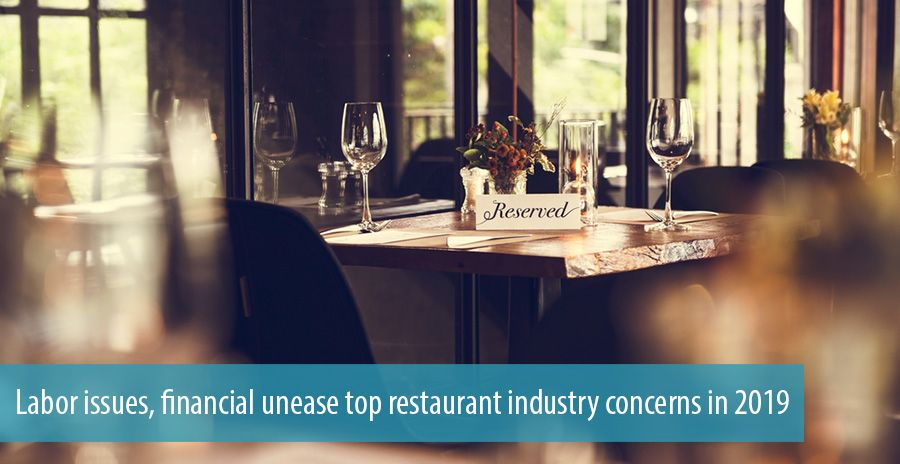 Labor Issues Financial Unease Top Restaurant Industry