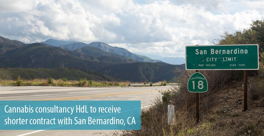 Cannabis consultancy HdL to receive shorter contract with San Bernardino, CA