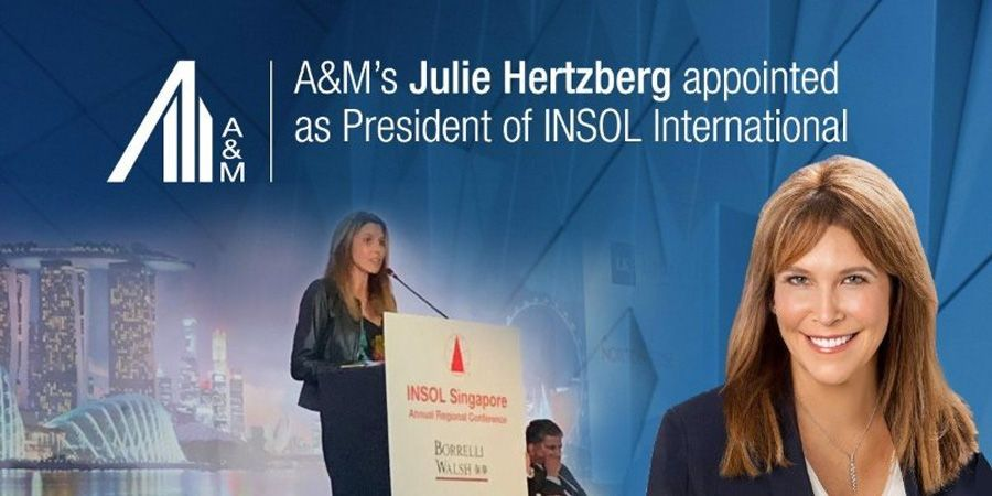 Alvarez & Marsal's Julie Hertzberg names president of INSOL International