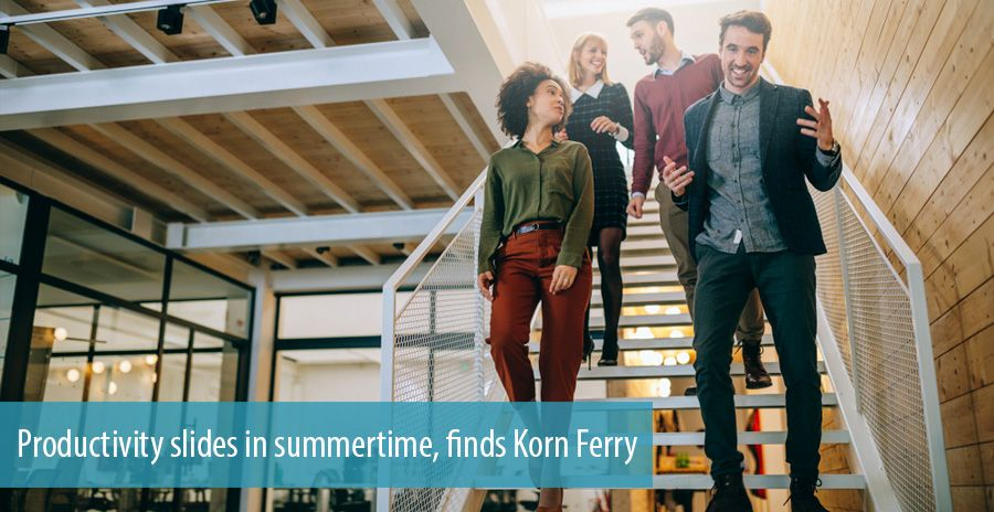 Productivity slides in summertime, finds Korn Ferry
