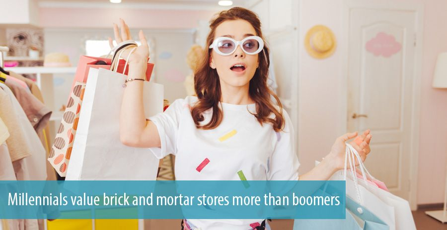 Millennials value brick and mortar stores more than boomers