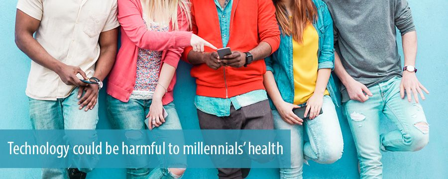 Technology could be harmful to millennials' health