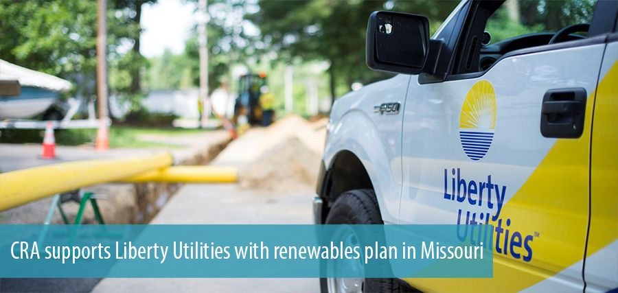 CRA supports Liberty Utilities with renewables plan in Missouri