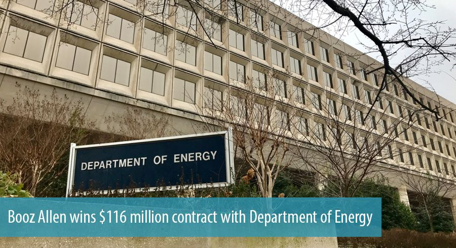 Booz Allen wins $116 million contract with Department of Energy