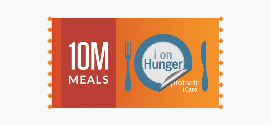 Protiviti's 'i on Hunger' initiative reaches 10 million meals worldwide