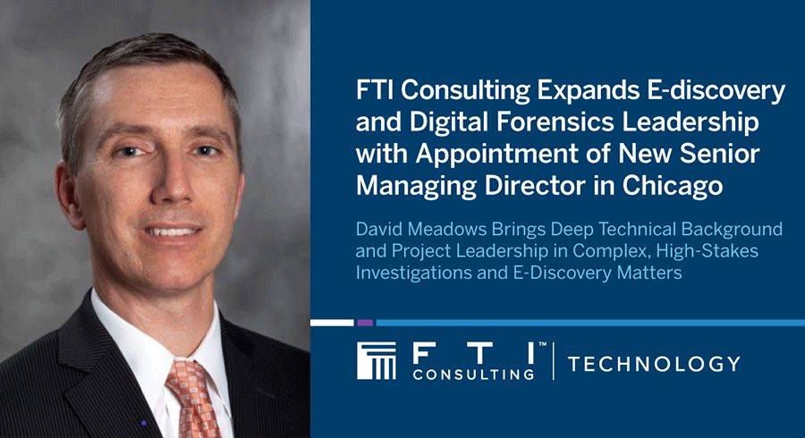 FTI Consulting adds e-discovery and forensics expert to technology practice