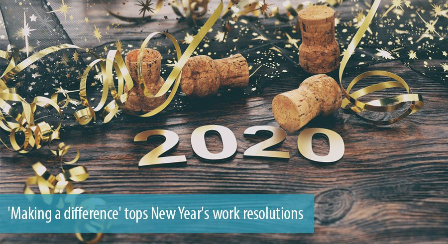 'Making a difference' tops New Year's work resolutions