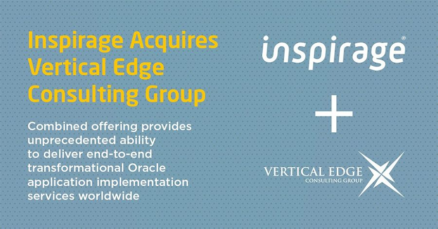 Oracle Platinum Partners Inspirage and Vertical Edge join forces