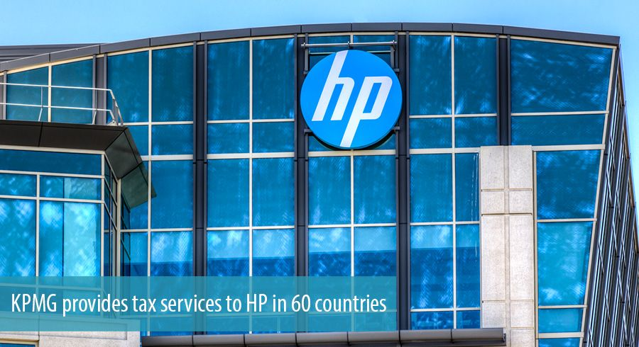KPMG provides tax services to HP in 60 countries
