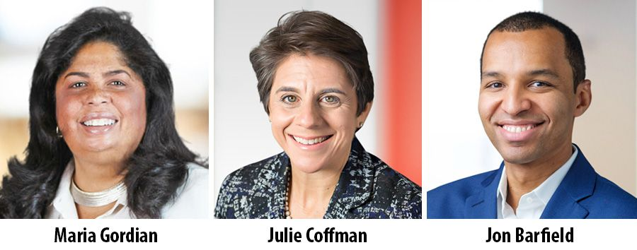 Maria Gordian, Julie Coffman and Jon Barfield - Bain & Company