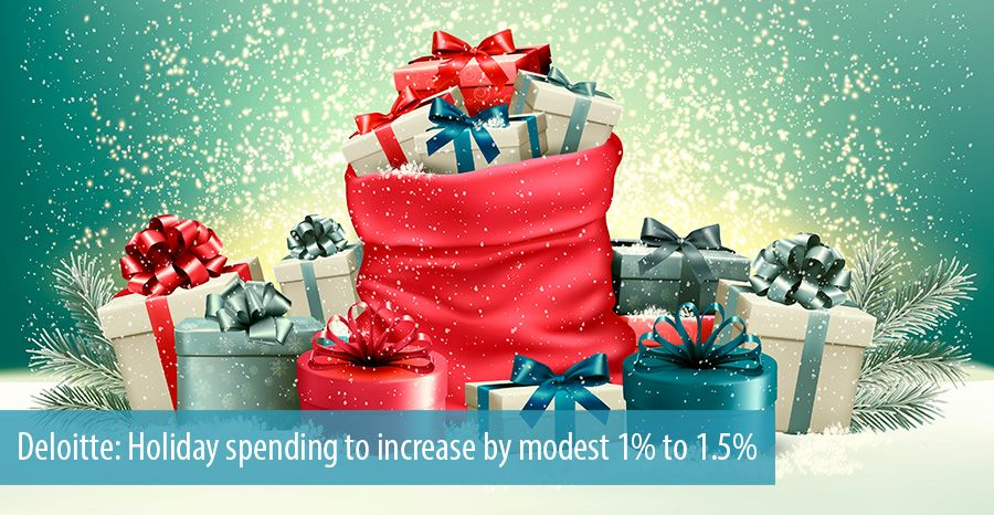 Deloitte: Holiday spending to increase by modest 1% to 1.5%