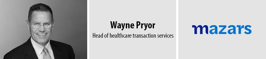Wayne Pryor, head of healthcare transaction services, Mazars