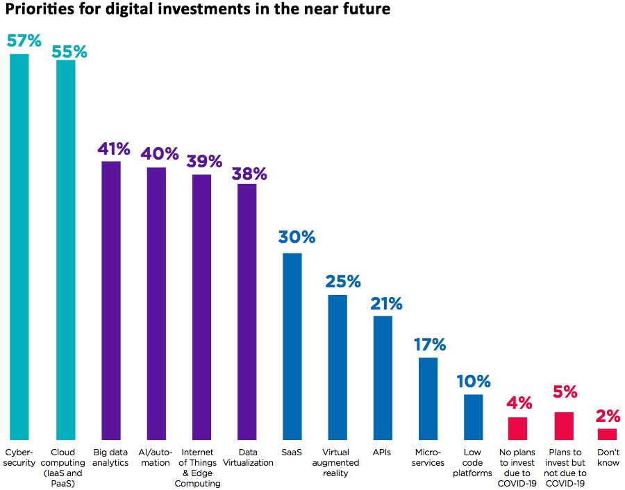 Priorities for digital investments in the near future