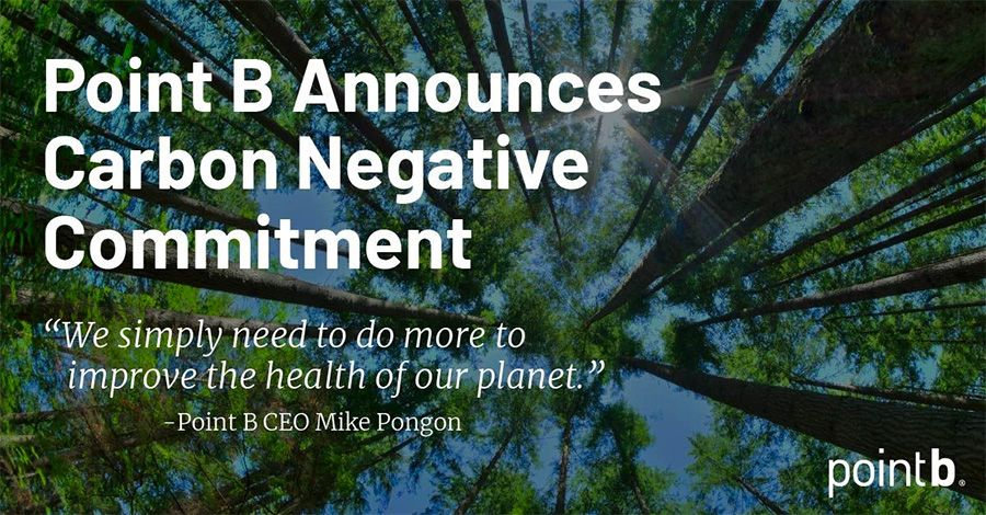 Point B commits to net-positive carbon emissions by 2030