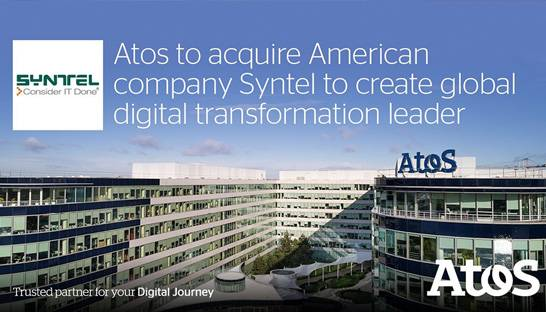 US-based IT firm Syntel acquired for $3.6 billion by Atos
