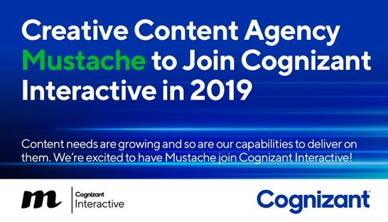 Cognizant Interactive adds creative agency Mustache