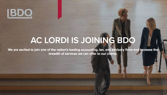 BDO USA acquires management consultancy AC Lordi