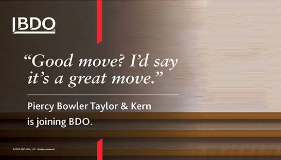 BDO acquires Las Vegas based firm Piercy Bowler Taylor & Kern