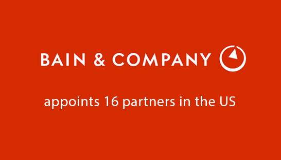 Bain & Company appoints 16 new partners in the US