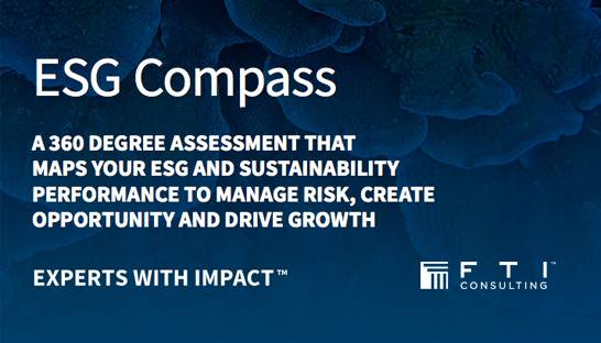 FTI Consulting launches sustainability tool ESG Compass