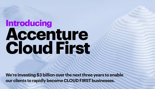Accenture pumps $3 billion into new 70,000-strong Cloud First division