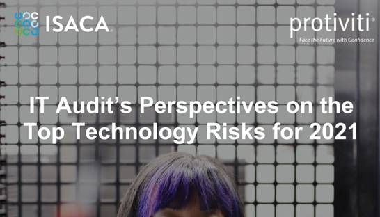 The top technology risks according to audit and risk leaders