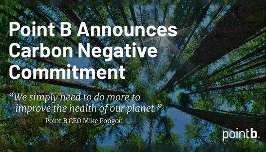 Point B commits to carbon negative emissions by 2030